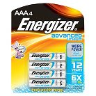 Energizer Advanced Lithium AA Batteries 4 Count (EA91BP-4)