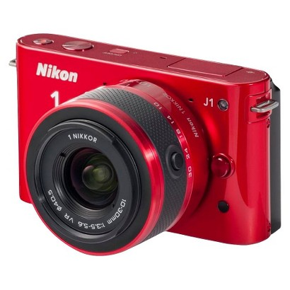 Nikon 1 J1 10MP Digital Camera with Interchangeable Lens - Red