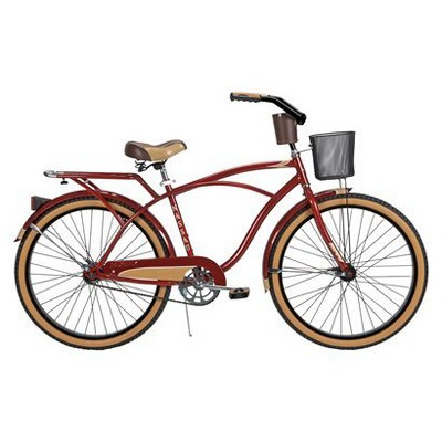 "Huffy Nassau 26"" Mens Cruiser Bike - Burgundy"