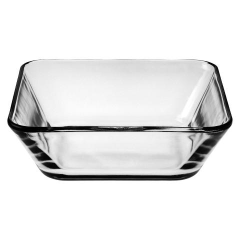 "Anchor Hocking Square Glass Bowl (6"")"