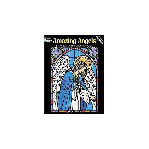 Amazing Angels Stained Glass Coloring Book (Paperback)