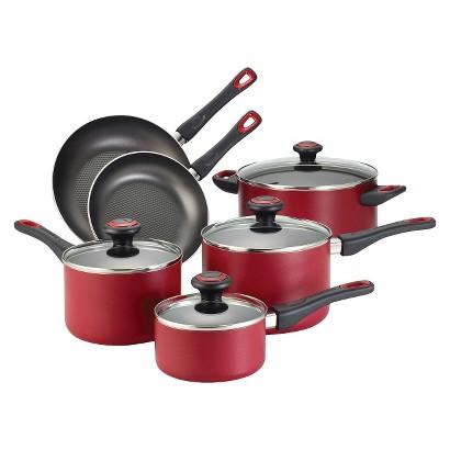 Farberware 10-Pc Cookware Set High Perfm Red