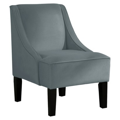 Hudson Swoop Chair - Velvet Smoke