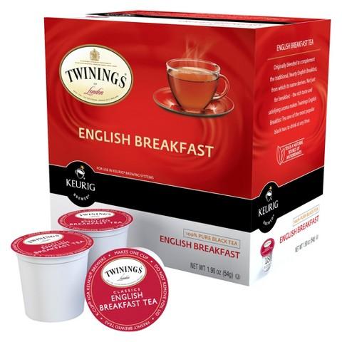 Keurig Twinings English Breakfast Black Tea K-Cups, 18 Ct