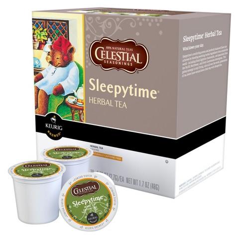 Celestial Seasonings Sleepytime Caffeine-Free Herbal Chamomile Tea Keurig K-Cups 18 ct