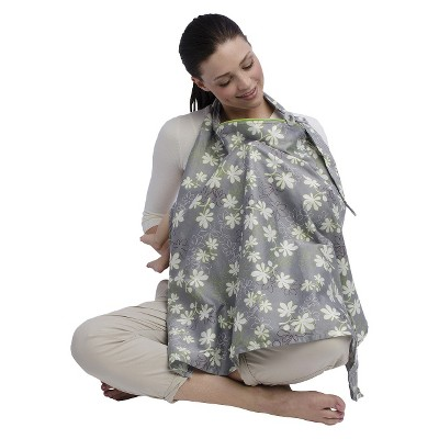 Boppy Cotton Nursing Cover - Grey Lupine