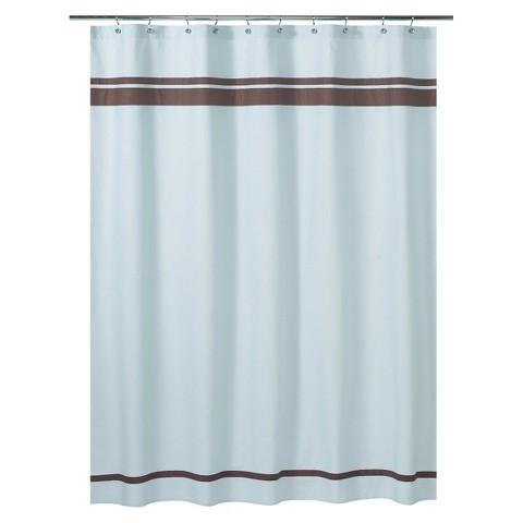 Sweet Jojo Designs Hotel Shower Curtain - Blue/Brown