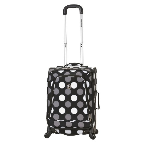 "Rockland Venice 20"" Expandable Spinner Carry-On - Black Dot"