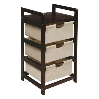 Badger Basket 3-Drawer Hamper/Storage Unit - Canvas