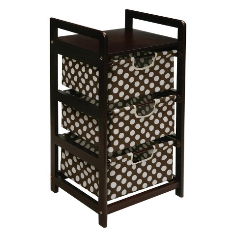 Badger Basket 3-Drawer Hamper/Storage Unit - Espresso