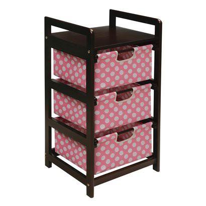 Badger Basket 3-Drawer Hamper/Storage Unit - Pink