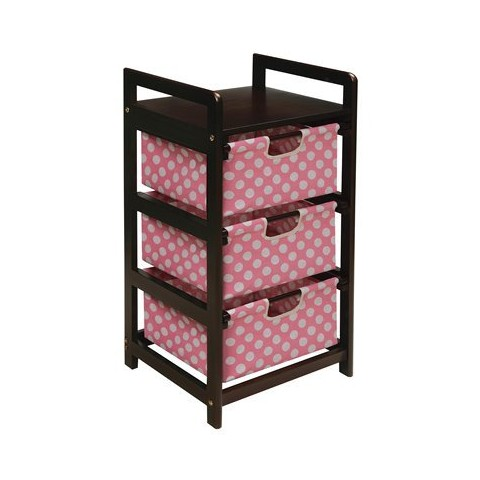 Badger Basket 3-Drawer Hamper/Storage Unit - Pink