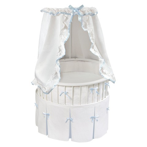 Badger Basket Elite Oval Bassinet - Blue/White
