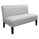 Skyline Furniture Zig Zag Armless Settee - Gray