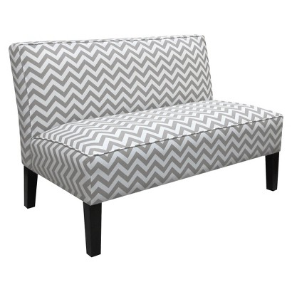 Skyline Furniture Zig Zag Armless Settee - Gray