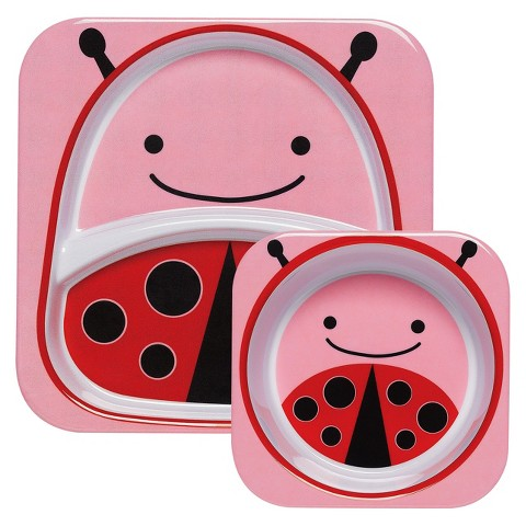 Skip Hop Zoo Melamine Kids & Toddler Tableware Set Ladybug