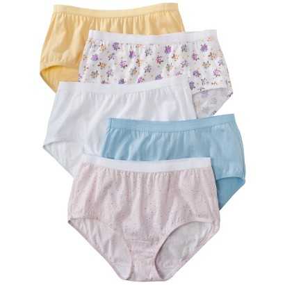 Fruit of the Loom® Womens Fit for Me Brief 5 Pack - Assorted Colors/Patterns
