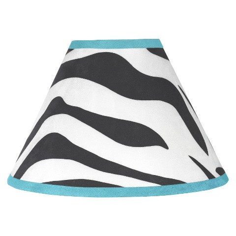 Sweet Jojo Designs Turquoise Zebra Lamp Shade