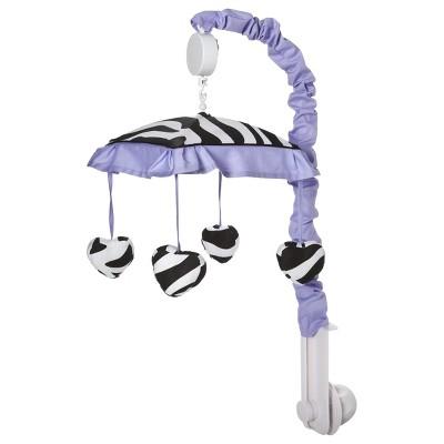Sweet Jojo Designs Purple Zebra Musical Mobile