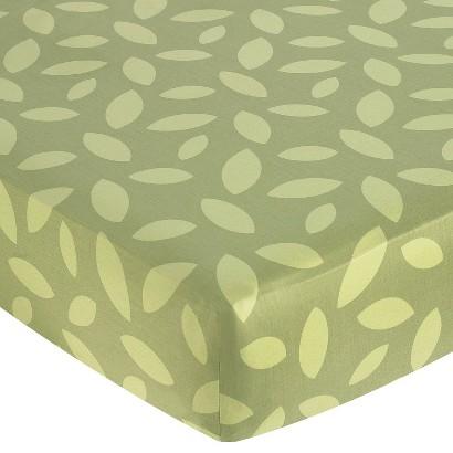 Sweet Jojo Designs Jungle Time Fitted Crib Sheet - Leaf Print