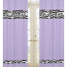 Sweet Jojo Designs Purple Zebra Window Panels