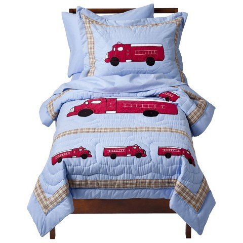 Sweet Jojo Designs Frankie's Fire Truck 5 pc. Toddler Bedding Set