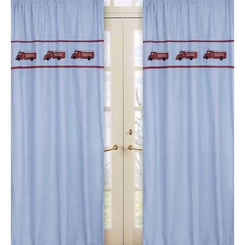 Sweet Jojo Designs Frankie's Fire Truck Window Panels