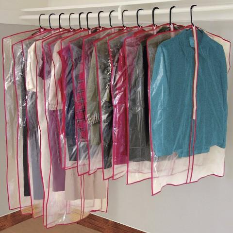 Set Of 13 Zippered Garment Bags