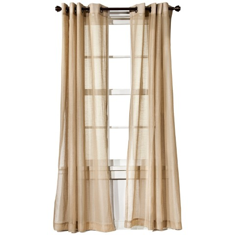 Threshold™ Linen Grommet Sheer Curtain Panel