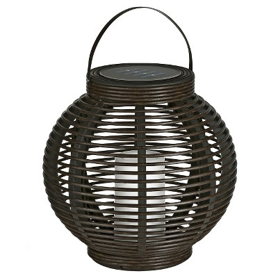 Rattan Solar Lantern (Large) - Threshold™