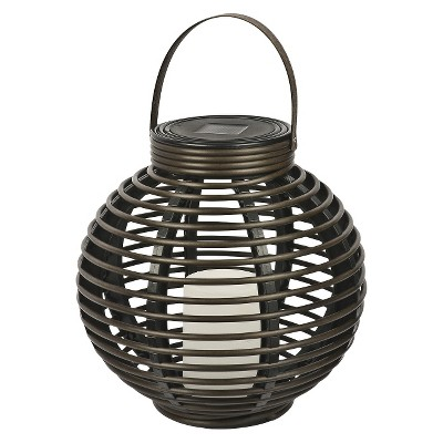 Rattan Solar Lantern (Medium)  - Threshold™
