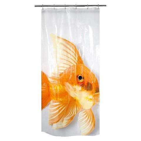 Goldzilla PEVA Shower Curtain - Clear