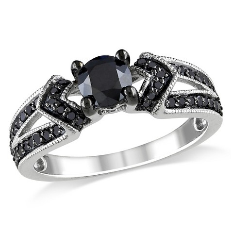 Black Diamond Engangement Ring