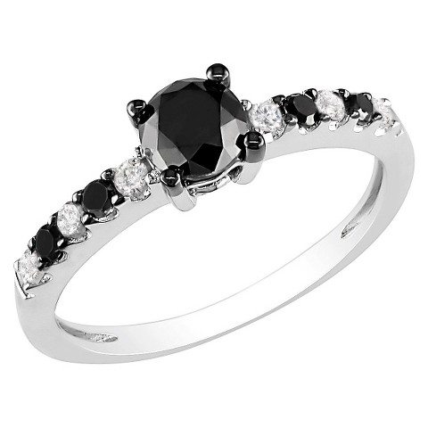 1ct Black & White Diamond Fashion Ring