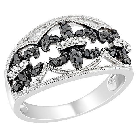 Black and White Diamond Fashion Ring