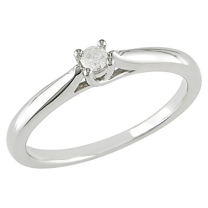 0.1 CT. T.W. Diamond Solitaire Ring in Sterling Silver