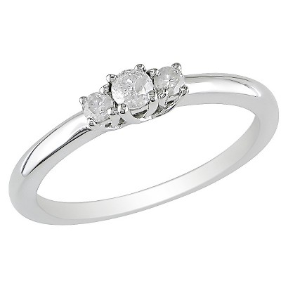 0.2 CT. T.W. Diamond 3 Stone Ring in Sterling Silver