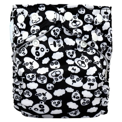 Charlie Banana Reusable Diaper 1 pack One Size - Beary Black