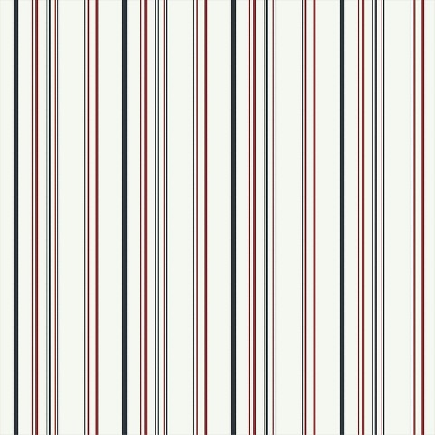 Stripe Wallpaper - Black/White/Red
