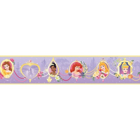 Princess Frames Wallpaper Border - Purple