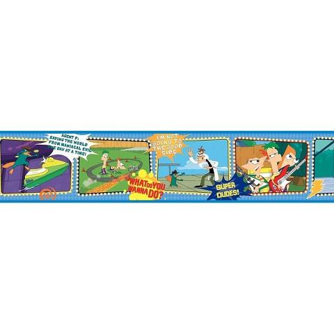 Phineas & Ferb Wallpaper Border - Blue