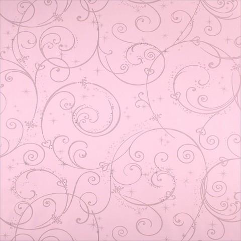 Perfect Princess Scroll Wallpaper -  Pink