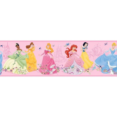 Dancing Princess Wallpaper Border - Pink