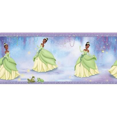 Princess Tiana Wallpaper Border - Purple