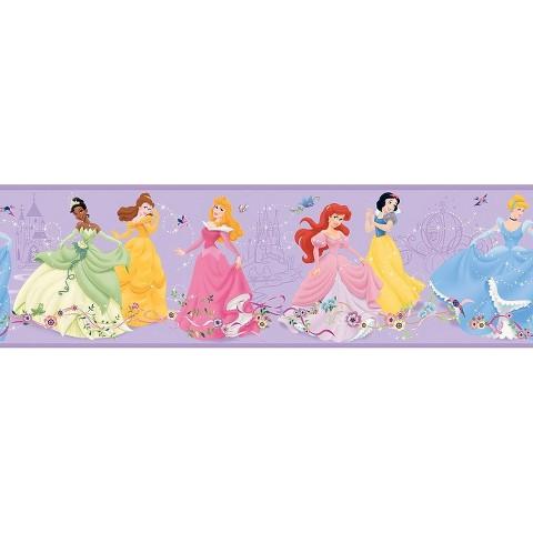 Dancing Princess Wallpaper Border - Purple