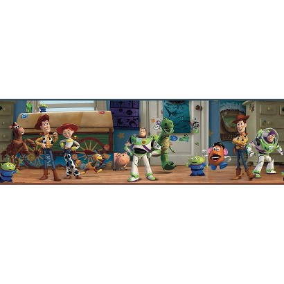 Toy Story Andy's Room Wallpaper Border - Multicolored