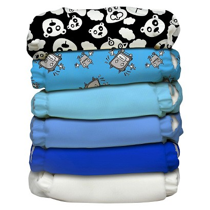 Charlie Banana Reusable Diaper 6 Pack One Size - Assorted Prints