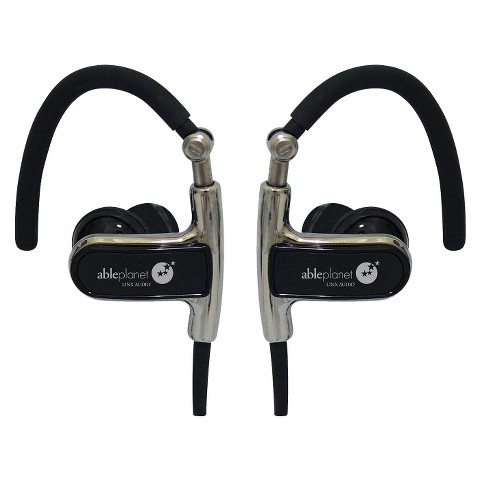 Able Planet Clear Harmony Black Sound Isolation Earphones with Ear Hooks