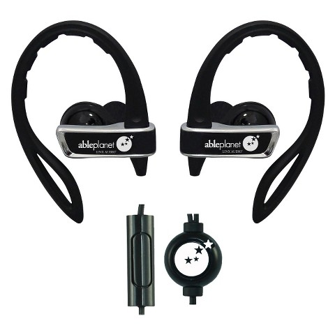 Able Planet True Fidelity Sport Earphones with Microphone (SI350) - Black