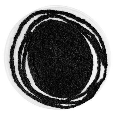 "InterDesign Doodle Rug - Black (24"" Round)"